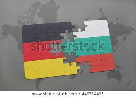 ドイツ ブルガリア フラグ パズル ベクトル 画像 ストックフォト © Istanbul2009