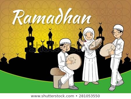 grupy · Muzułmanin · gry · dla · dzieci · muzyki · dzieci · gry - zdjęcia stock © tujuh17belas
