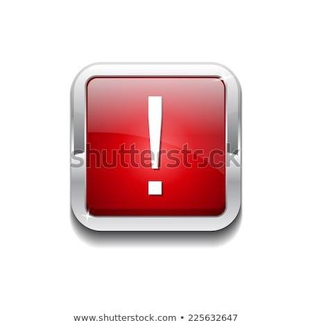 знак красный квадратный кнопки икона Сток-фото © rizwanali3d