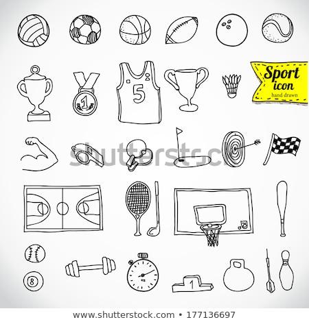 íjászat sport rajz ikon háló mobil Stock fotó © RAStudio