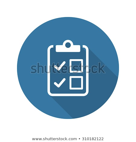 Appointment Request and Medical Services Icon. Flat Design. Long Stock photo © WaD