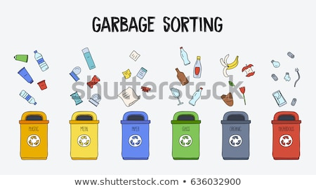 doodle Recycle bins, garbage separation Stock photo © netkov1