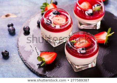 Panna cotta with berries  Stock photo © Fotografiche