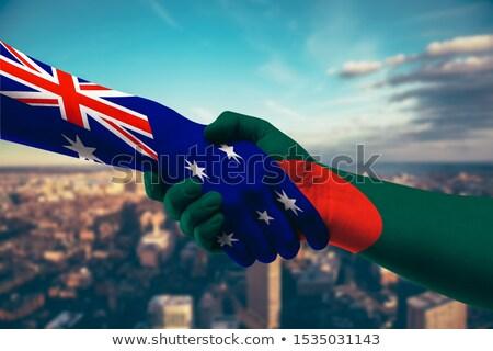 Kanada Banglades zászlók puzzle izolált fehér Stock fotó © Istanbul2009