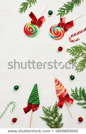 Background of colored small sweet candy and  lolipop Stock photo © mcherevan