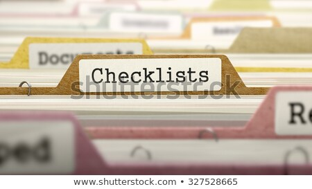 checklists   folder name in directory stock photo © tashatuvango