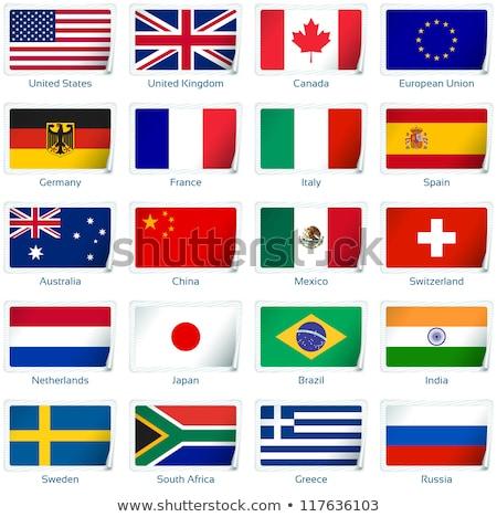 Royaume-Uni Espagne drapeaux puzzle isolé blanche Photo stock © Istanbul2009