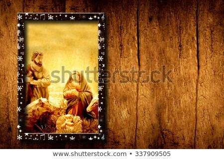 木製 · シーン · スリー·キングス · 孤立した · 白 · 背景 - ストックフォト © marimorena