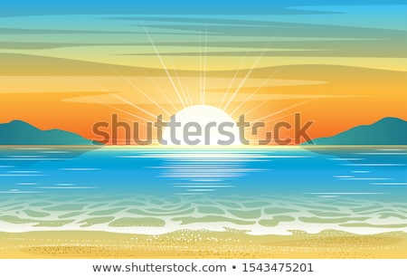 Sun rising on the blue sky Stock photo © vapi