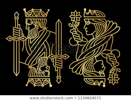 Rood poker gouden kaart symbolen exclusief Stockfoto © liliwhite