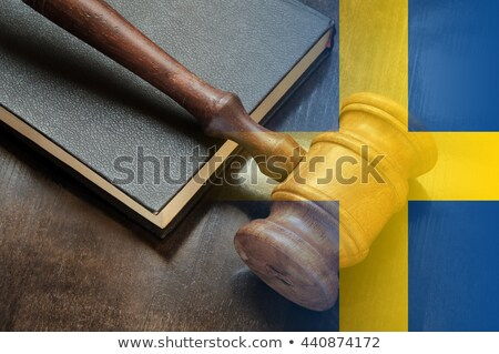 A gavel and a law book - Sweden Stock photo © Zerbor