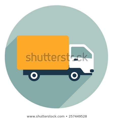 teherautó · vektor · ikon · szállítóautó · fekete · sziluett - stock fotó © MaxPainter