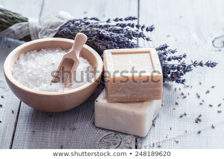 Aromatic bath salt and natural handmade soap stock photo © IngridsI