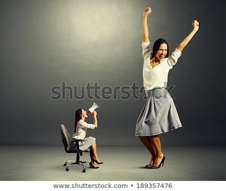 big person with small businesswoman concept stock photo © ra2studio