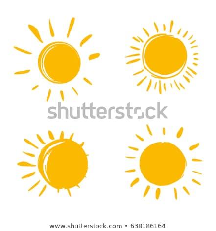 Sonne · Symbol · Vorlagen · Set · drei · Designs - vektor-grafiken ...