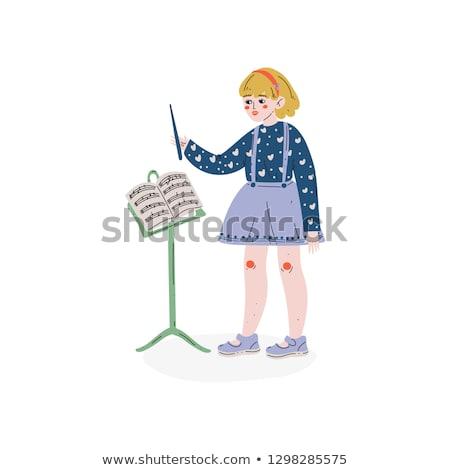 conductor directing with her baton stock photo © rastudio