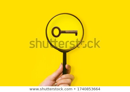 Magnifying Glass And Key Stock photo © cosma