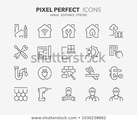 house repair line icon stock photo © rastudio