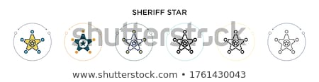 Thin Line Art Law Justice and Crime Pattern Set Stock photo © Anna_leni