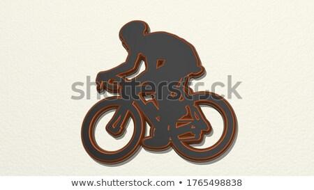 illustration of ninja over white background stock photo © nezezon