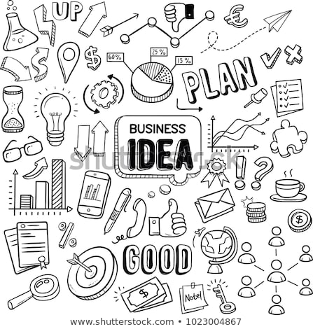 doodle business icons stock photo © pakete