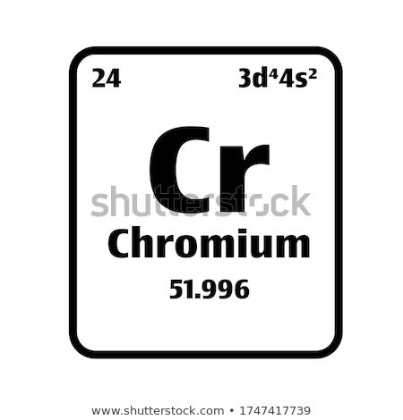 Chrome élément blanche technologie fond plaque Photo stock © bluering