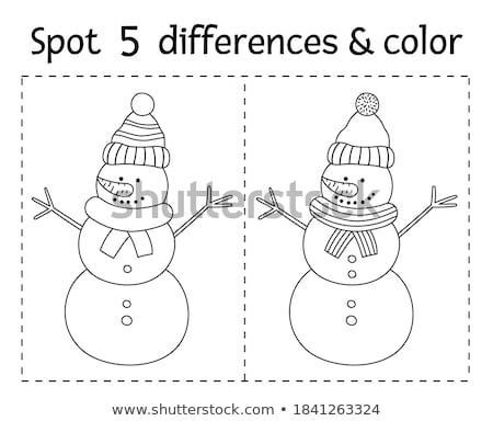 A worksheet with a man Stock photo © bluering
