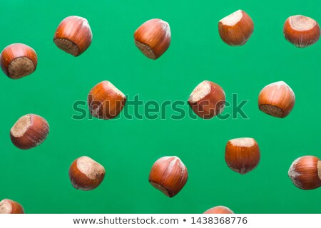 hazelnuts scattered on rustic base Stock photo © faustalavagna