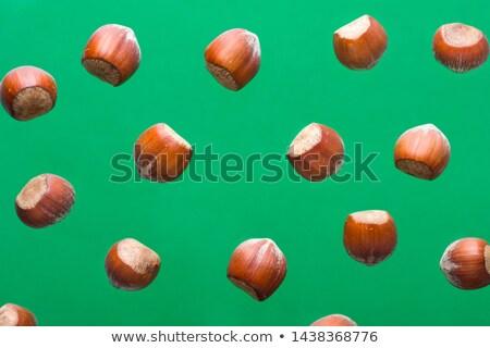 mogyoró · rusztikus · sok · fából · készült · tél - stock fotó © faustalavagna