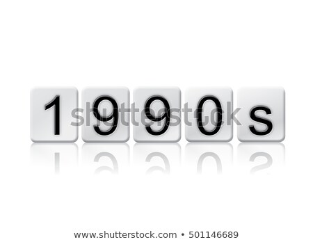 1990s Isolated Tiled Letters Concept and Theme Stock photo © enterlinedesign
