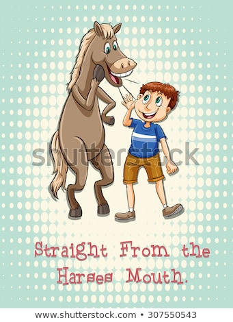 Straight from the horse mouth Stock photo © bluering