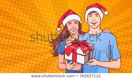漫画 · サンタクロース · 吹き出し · 手 · クレイジー · クリスマス - ストックフォト © balasoiu