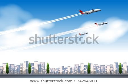 Tres vuelo cielo fondo arte Foto stock © bluering