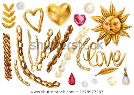 ruby heart on a gold chain Stock photo © blackmoon979