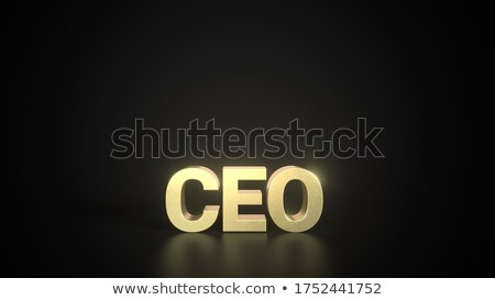golden boss with reflection stock photo © marinini