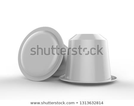 Rood koffie capsule 3D 3d render geïsoleerd Stockfoto © djmilic