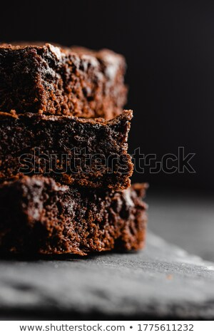 delicate slice of chocolate cake Stock photo © Klinker
