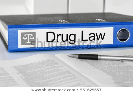 Blue folder with the label Drug Law Stock photo © Zerbor