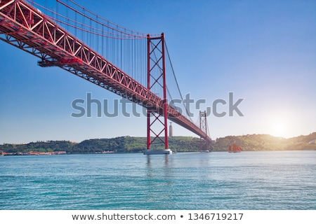 Lisbon 25 April bridge, Portugal Stock photo © joyr