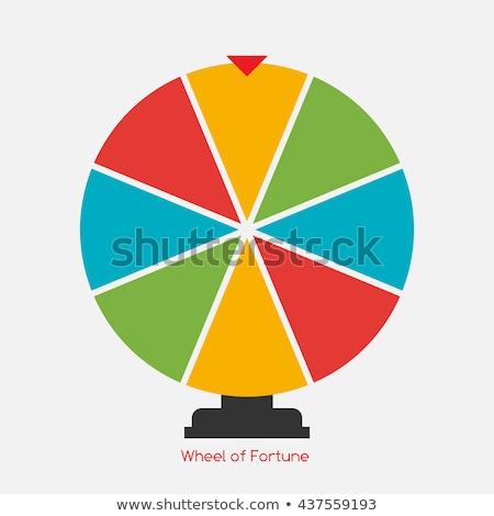 Casino rueda de la ruleta icono negro rojo verde Foto stock © day908