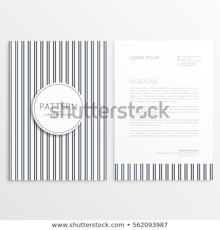 Briefkopf Vorlage Zeilen Muster Business Büro Stock foto © SArts