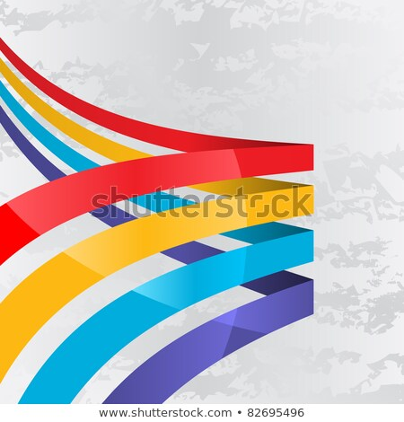 Stok fotoğraf: Different Design Of Ribbons In Four Colors