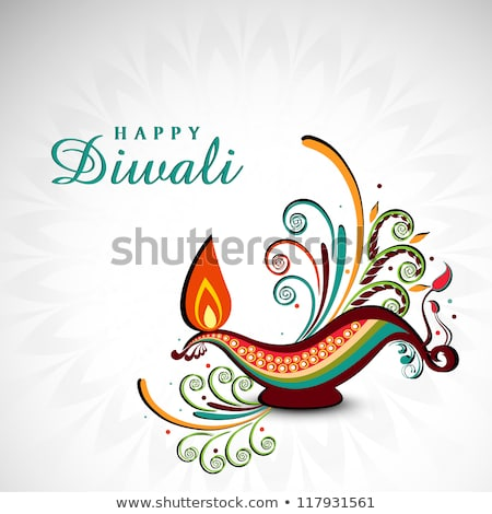 happy diwali festival wallpaper with paisley decoration Stock photo © SArts
