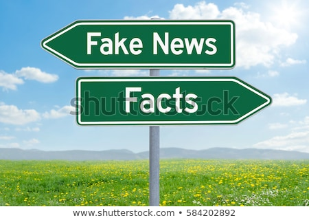 two green direction signs   fake news or facts stock photo © zerbor