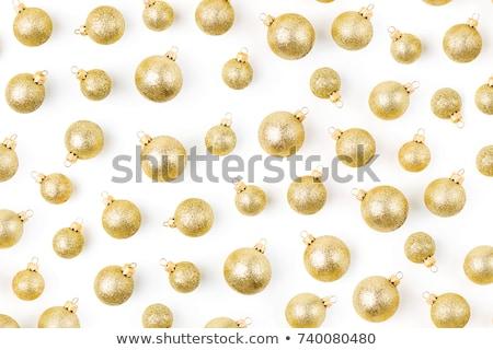 stylish golden christmas balls on luxury style background stock photo © sarts