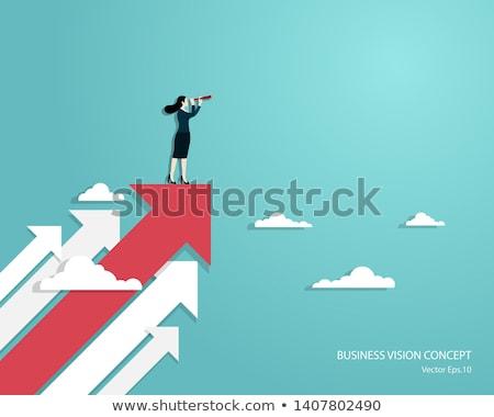 文字 · ビジネスマン · グラフ · 成功 · 実例 - ストックフォト © rastudio