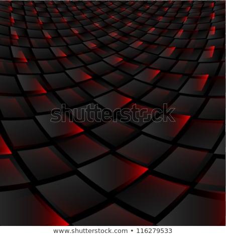 Fantasztikus piros fekete névjegy vektor terv Stock fotó © SArts