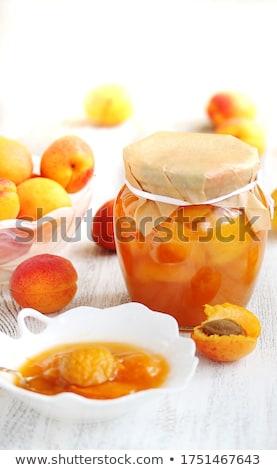 Jarファイル アプリコット ボウル 新鮮な フルーツ デザート ストックフォト © Digifoodstock