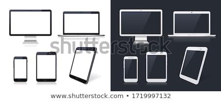 boş · bilgisayar · durum · yandan · görünüş · siyah · Metal - stok fotoğraf © magraphics