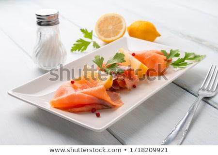 somon · dilimleri · siyah · havyar · gıda - stok fotoğraf © digifoodstock